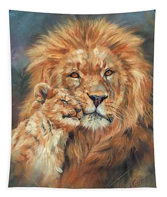 Lion Love Tapestry
