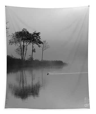 Loch Ard Trees In The Morning Mist Tapestry