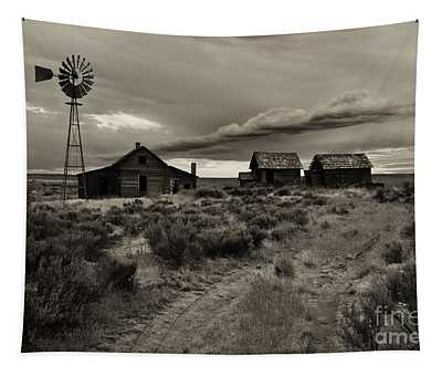 Lonely House On The Prairie Tapestry