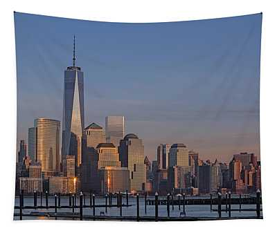 Lower Manhattan Skyline Tapestry