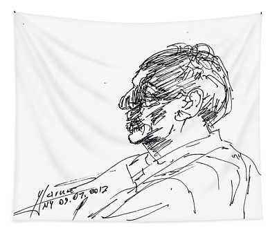 Man Head Tapestry