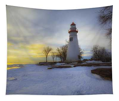 Marblehead Lighthouse Lake Erie Tapestry