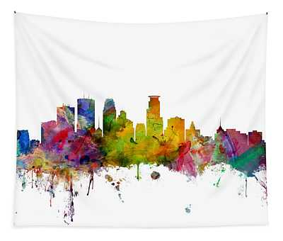 Minneapolis Minnesota Skyline Tapestry