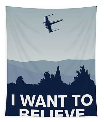 My I Want To Believe Minimal Poster-xwing Tapestry