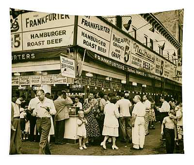 Nathan's Famous Frankfurters - Nyc 1947 Tapestry