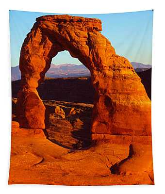 Natural Arch In A Desert, Delicate Tapestry