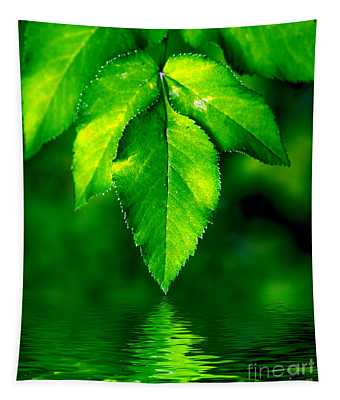 Natural Leaves Background Tapestry