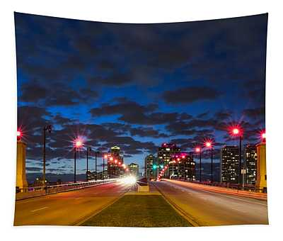 Night Lights Tapestry