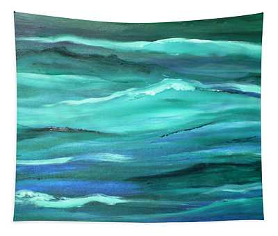 Ocean Swell By V.kelly Tapestry
