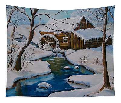 Old Grist Mill  Tapestry