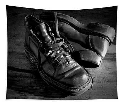Old Leather Shoes Tapestry