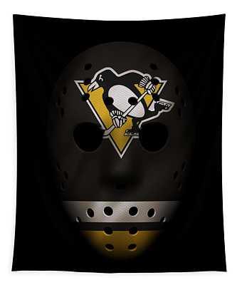 Penguins Jersey Mask Tapestry