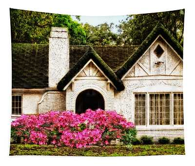 Pink Azaleas - Old Southern Charm By Sharon Cummings Tapestry
