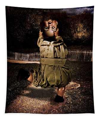 Possessed Doll Doing A Headless Dance Tapestry