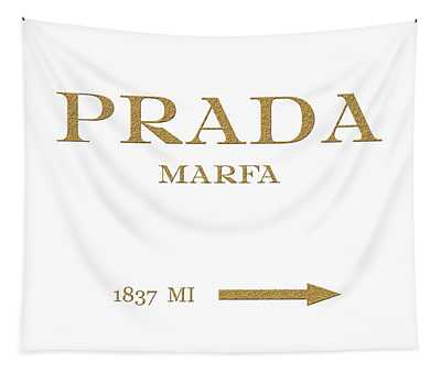 Prada Marfa Mileage Distance Tapestry