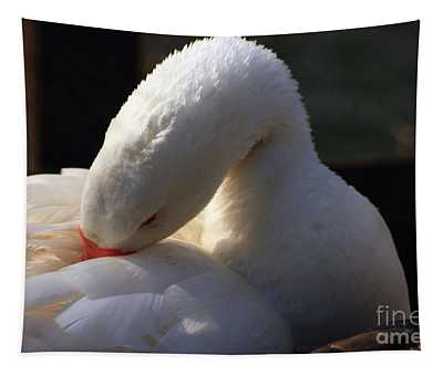 Preening Goose Tapestry