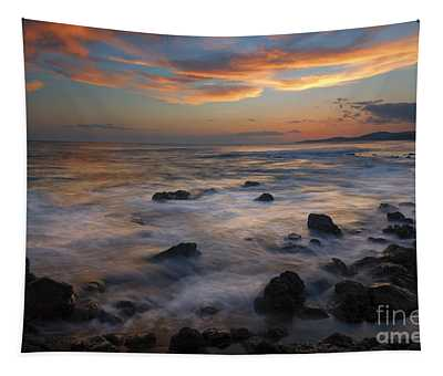 Red Sky Paradise Tapestry