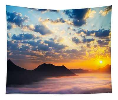 Sun Rays Wall Tapestries