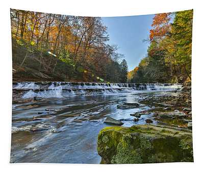 Squaw Rock - Chagrin River Falls Tapestry