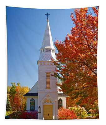 St Matthew's In Autumn Splendor Tapestry