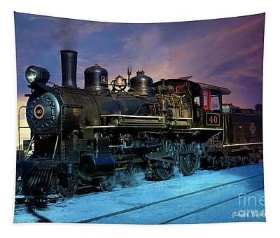 Steam Engine Nevada Northern Tapestry