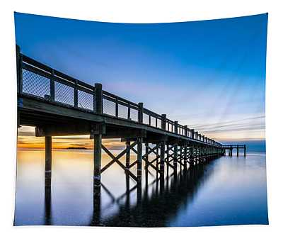 Sunrise Under The Boardwalk Tapestry