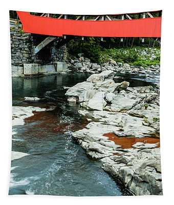 Taftsville Covered Bridge Vermont 3 Tapestry