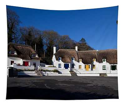 Thatched Cottages Near Dunmore Strand Tapestry
