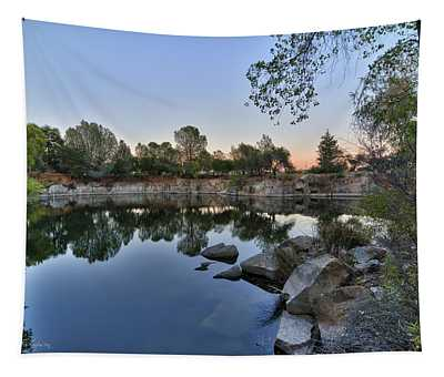 Tapestry featuring the photograph The Quinn Quarry by Jim Thompson