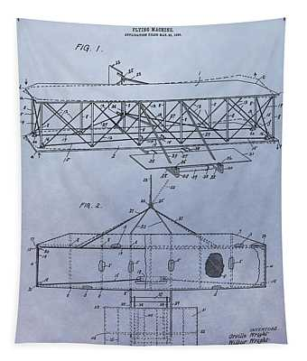 The Wright Brothers Airplane Patent Tapestry