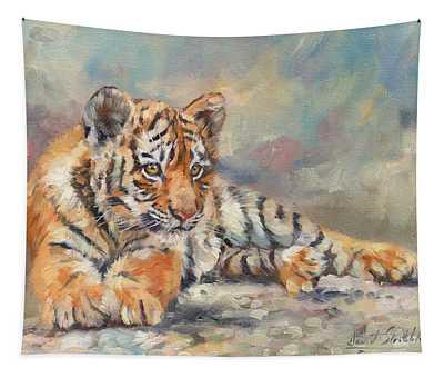 Tiger Cub Tapestry