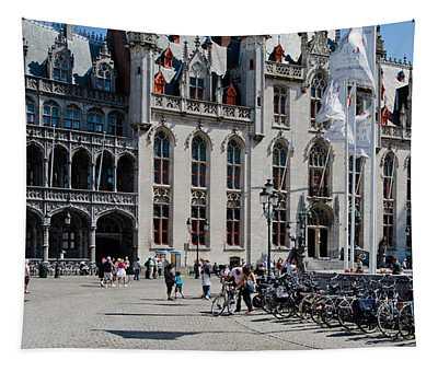 Tourists At A Market, Bruges, West Tapestry