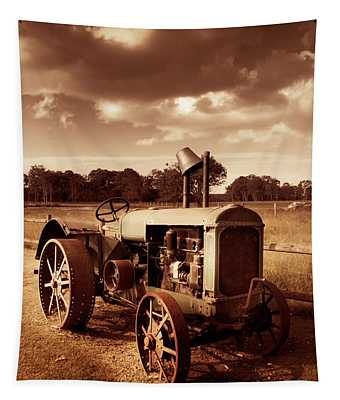 Tractor From Yesteryear Tapestry