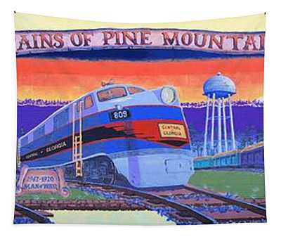 Trains Of Pine Mountain Tapestry