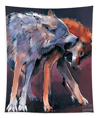 Two Wolves Tapestry