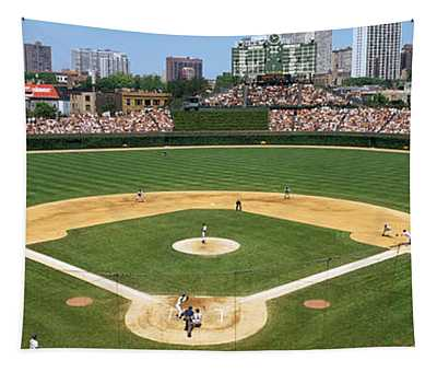 Usa, Illinois, Chicago, Cubs, Baseball Tapestry