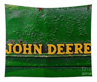 Vintage John Deere Tractor Tapestry
