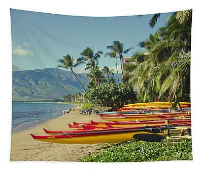 Kenolio Beach Sugar Beach Kihei Maui Hawaii  Tapestry