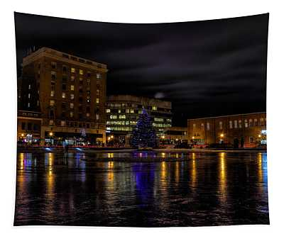 Wausau After Dark At Christmas Tapestry