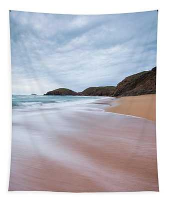 Waves Breaking At Murder Hole  County Tapestry