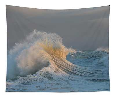 Waves In The Pacific Ocean, San Pedro Tapestry