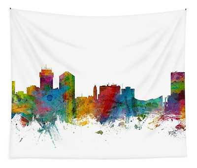 Wichita Kansas Skyline Tapestry
