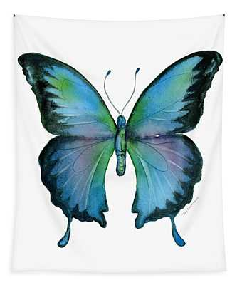 12 Blue Emperor Butterfly Tapestry
