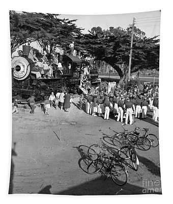 1285 Steam Locomotive At Dennis The Menace Park  Monterey California 1956 Tapestry