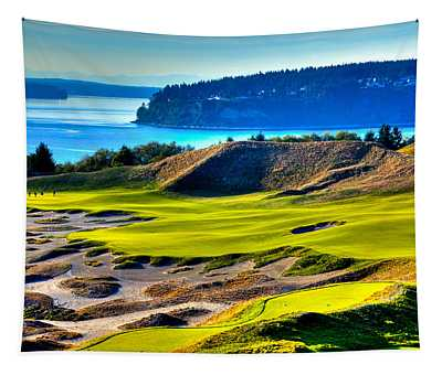 #14 At Chambers Bay Golf Course - Location Of The 2015 U.s. Open Tournament Tapestry