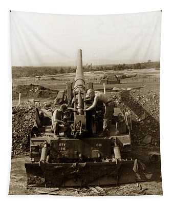 175mm Self Propelled Gun C 10 7-15th Field Artillery Vietnam 1968 Tapestry