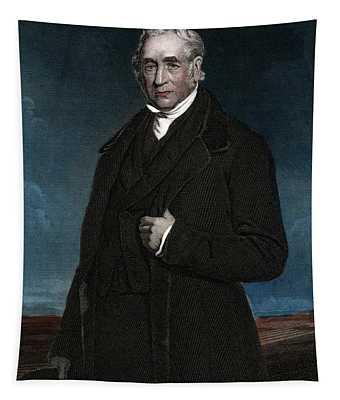 1800s George Stephenson English Civil Tapestry