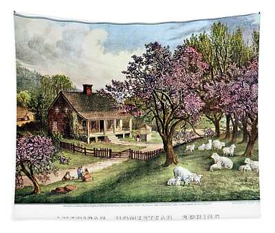 1860s American Homestead Spring - Tapestry