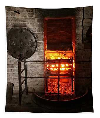 18th Century Farm House Fire Tapestry