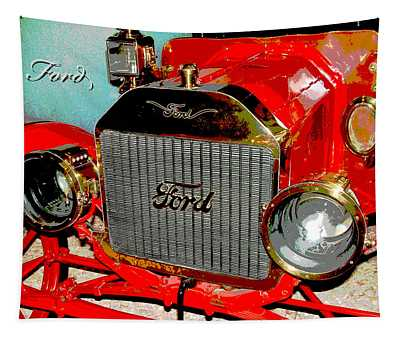 1909 Ford Digital Art Tapestry